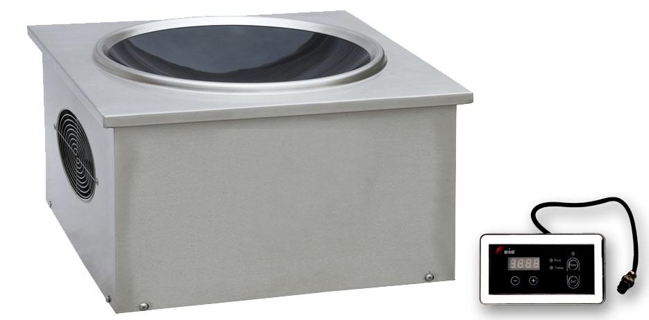 电磁嵌入式凹面炉